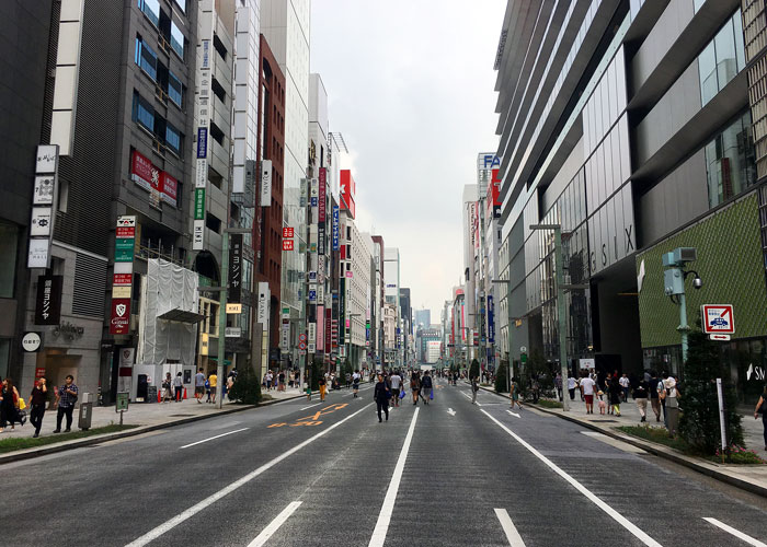 Top cities Singaporeans travelled to 2018 - Tokyo Ginza, Japan